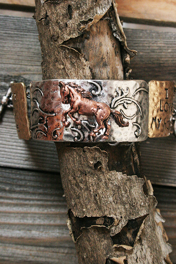Country Girl Cowgirl Born To Ride Metal Bracelet jewelry - SouthernGirlApparel.com