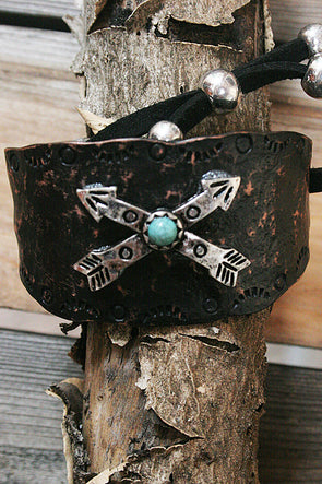Crossed Arrows Metal Adjustable Bracelet jewelry - SouthernGirlApparel.com