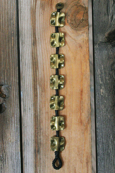 Brass Squares Single Strand Bracelet - Southern Girl
