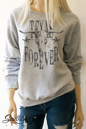 Texas Forever Sweatshirt - Southern Girl Apparel® - southerngirlapparel.com