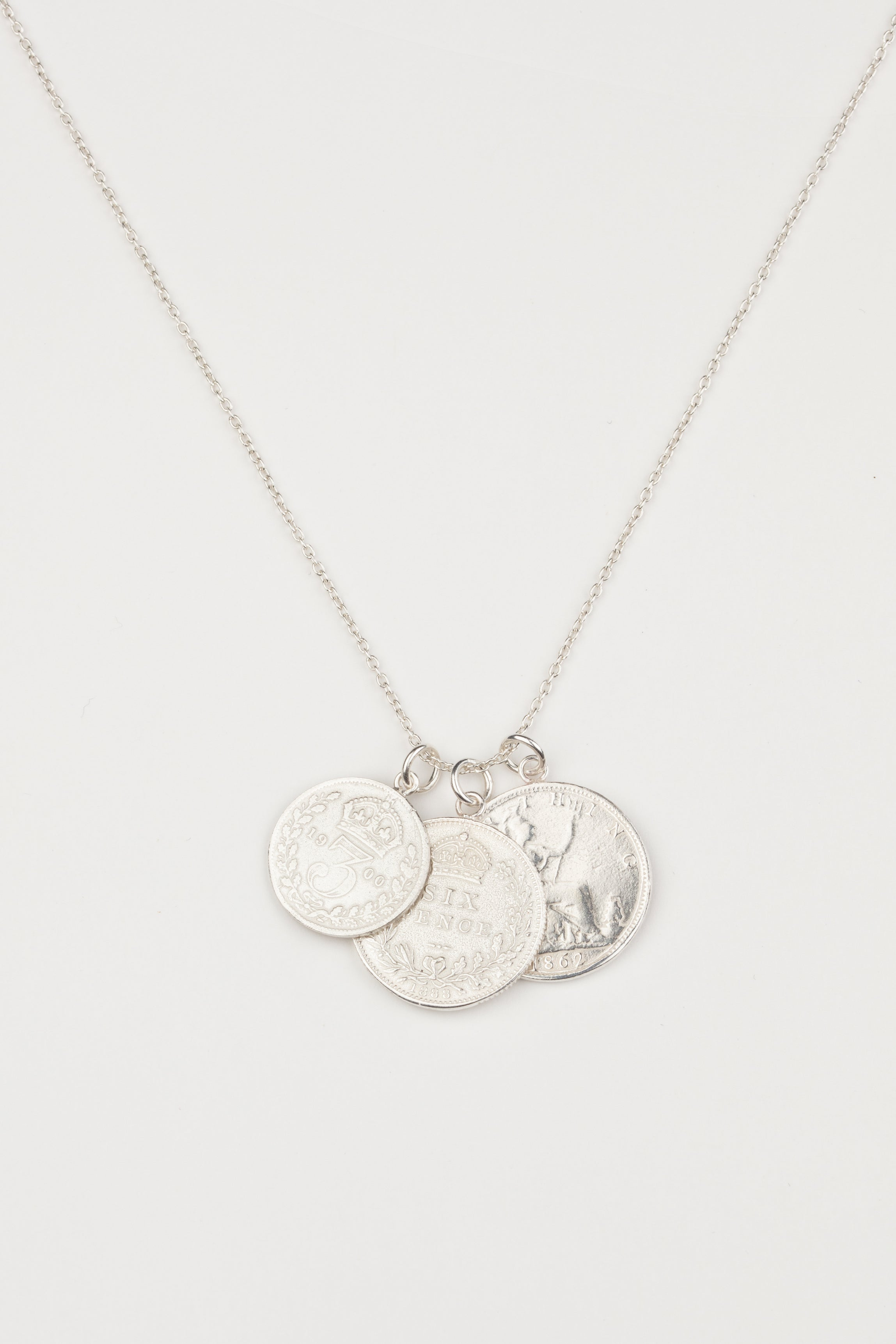 Layered Triple Coin Necklace