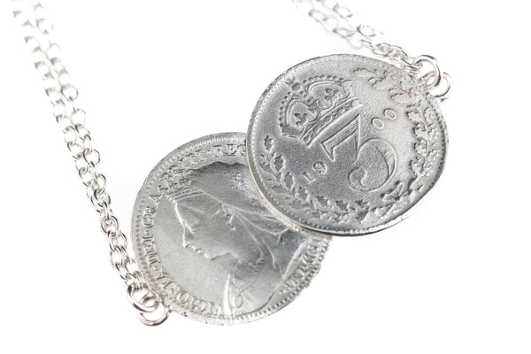 Victorian 'Mini Me' Silver Double Threepence Bracelet