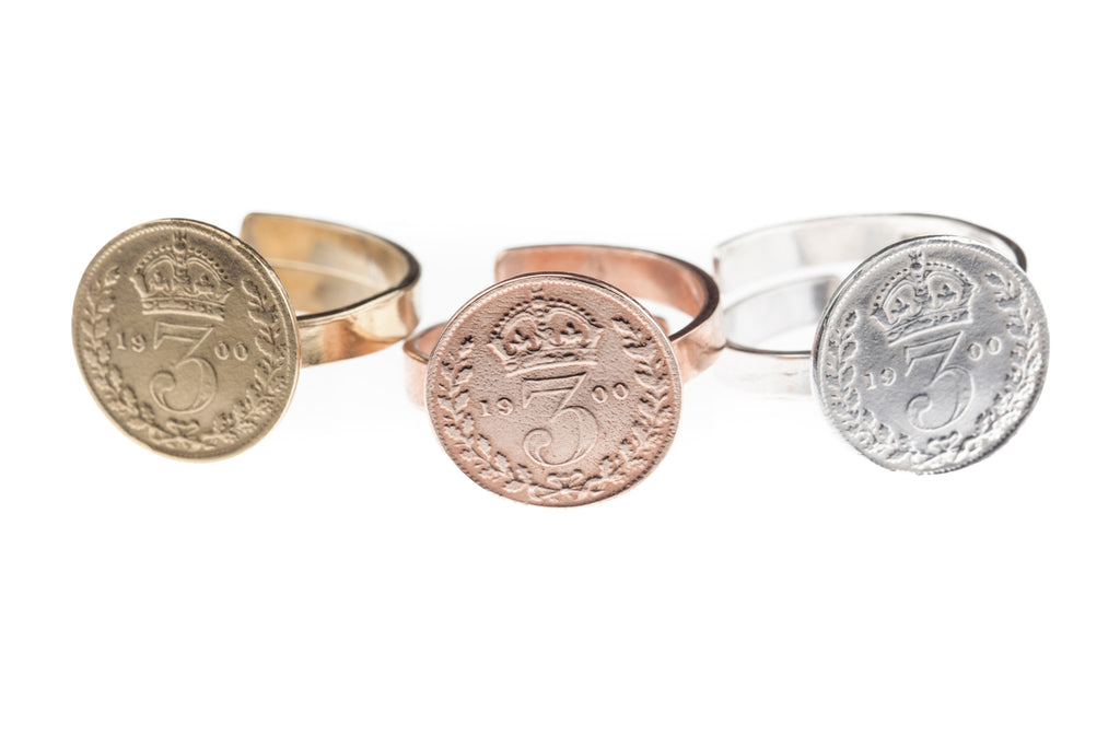 Victorian Threepence Coin Ring