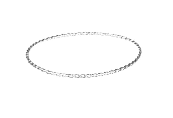Solid Silver Simple Stacking Bangle