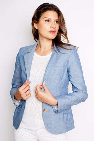 Two Penny Blue Cambridge Chambray Blazer