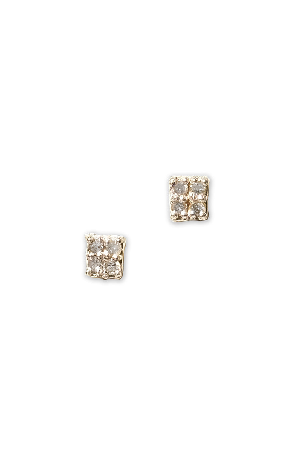 Pavé Square Earrings