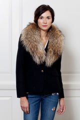 Baxter Blazer with Fur Stole