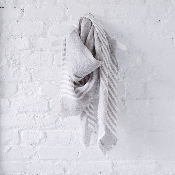 Anchorage Striped Blanket Scarf
