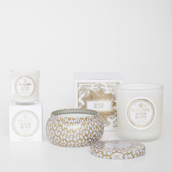 Suede Blanc Maison Metallo Candle