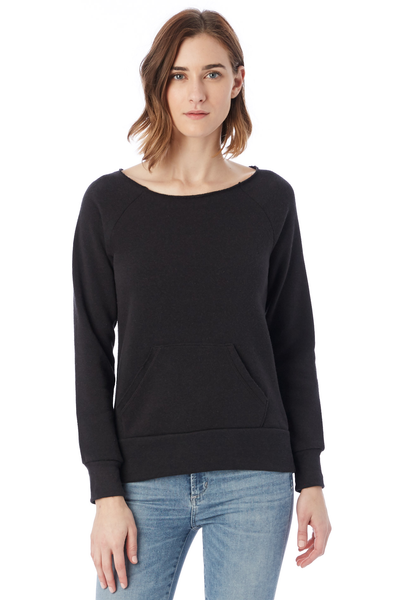 alternative apparel maniac sweatshirt in eco true black