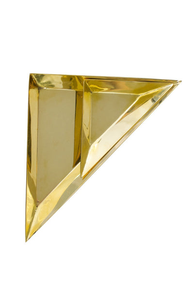 Brass Triangle Trays - Two Penny Blue