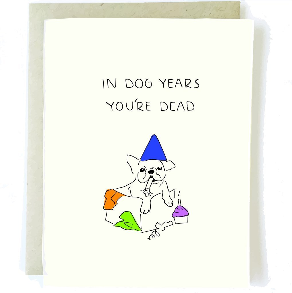 Chalkscribe - In Dog Years Card - Two Penny Blue