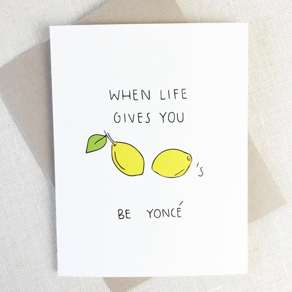 Chalkscribe - Lemonade Greeting Card - Two Penny Blue