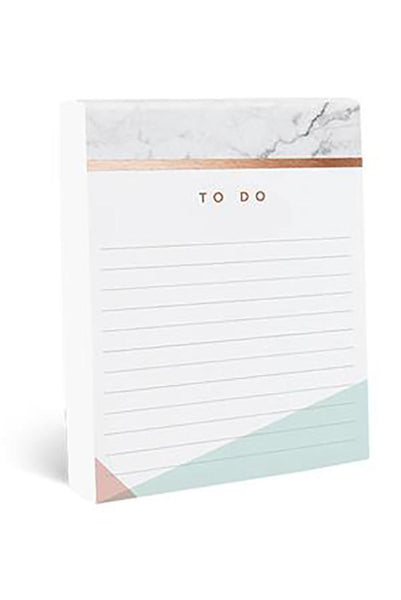 Copper Marble Jotter Notepad - Two Penny Blue