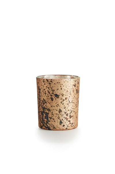 Copper Rose Majestic Glass Candle - Two Penny Blue