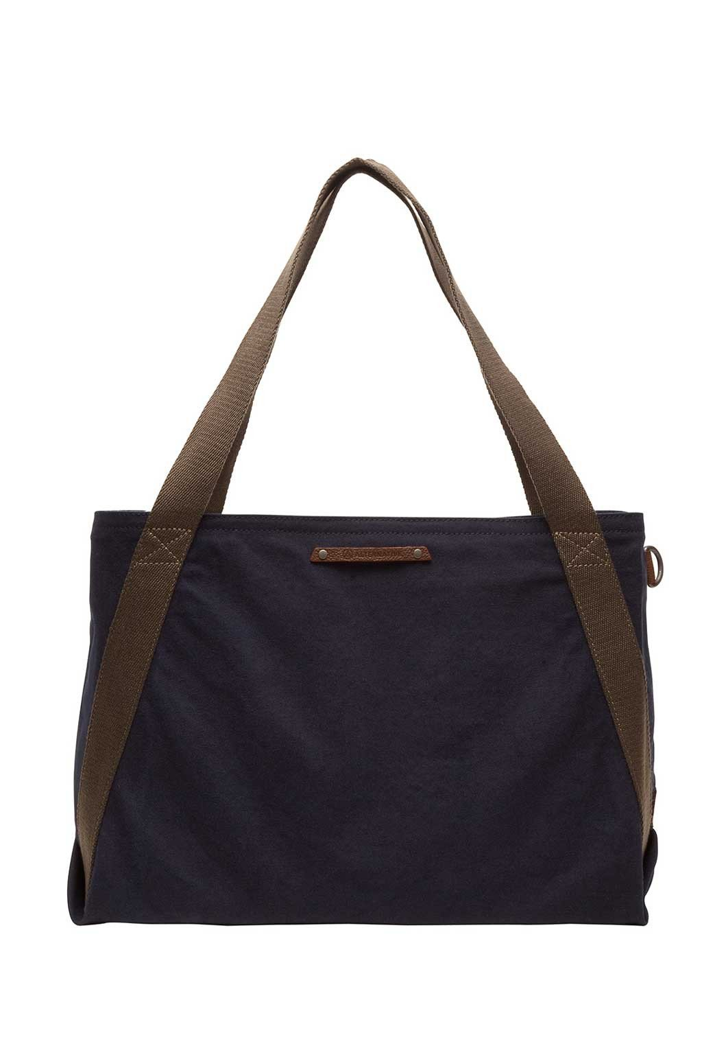 Cotton Boat Tote In Indigo - Two Penny Blue