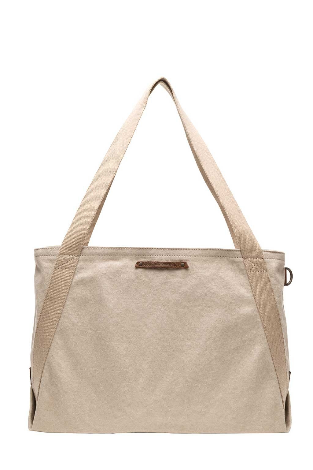 Cotton Boat Tote In Sand - Two Penny Blue