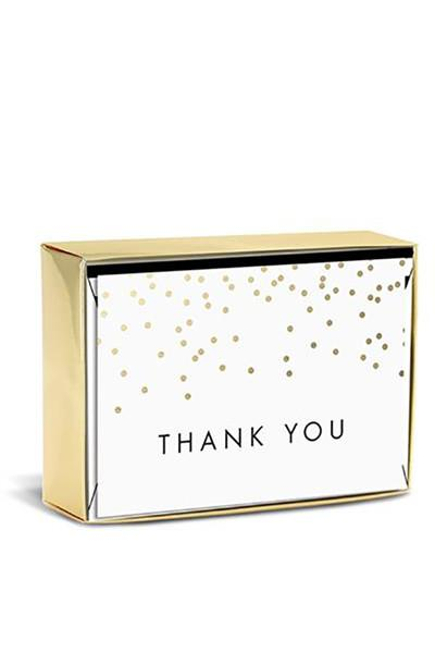 "Elegant Dotted ""Thank You"" Boxed Cards - Two Penny Blue"