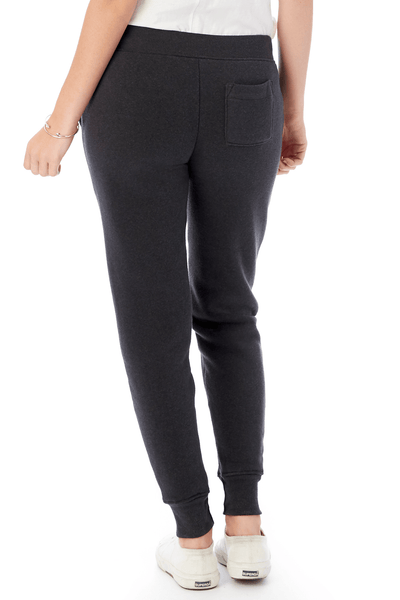 Fleece Jogger in True Eco Black - Two Penny Blue