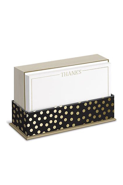"Gold Dot ""Thanks"" Note Card Set - Two Penny Blue"