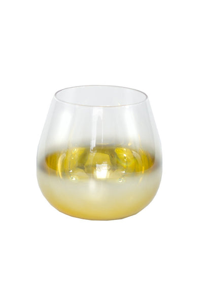 Gold Fade Cocktail Glass - Two Penny Blue