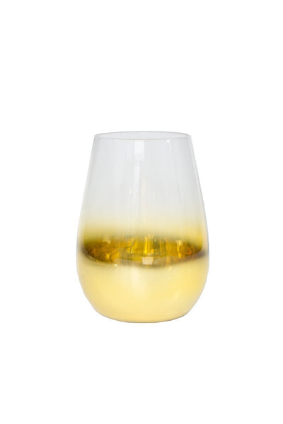Gold Fade Wine Glass - Two Penny Blue