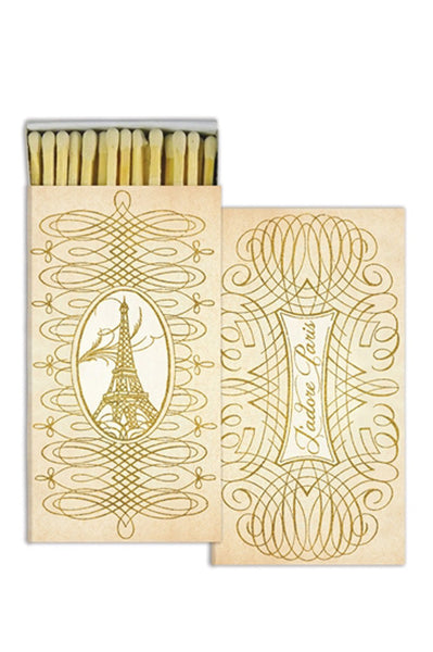 Gold Foil Paris Matches - Two Penny Blue