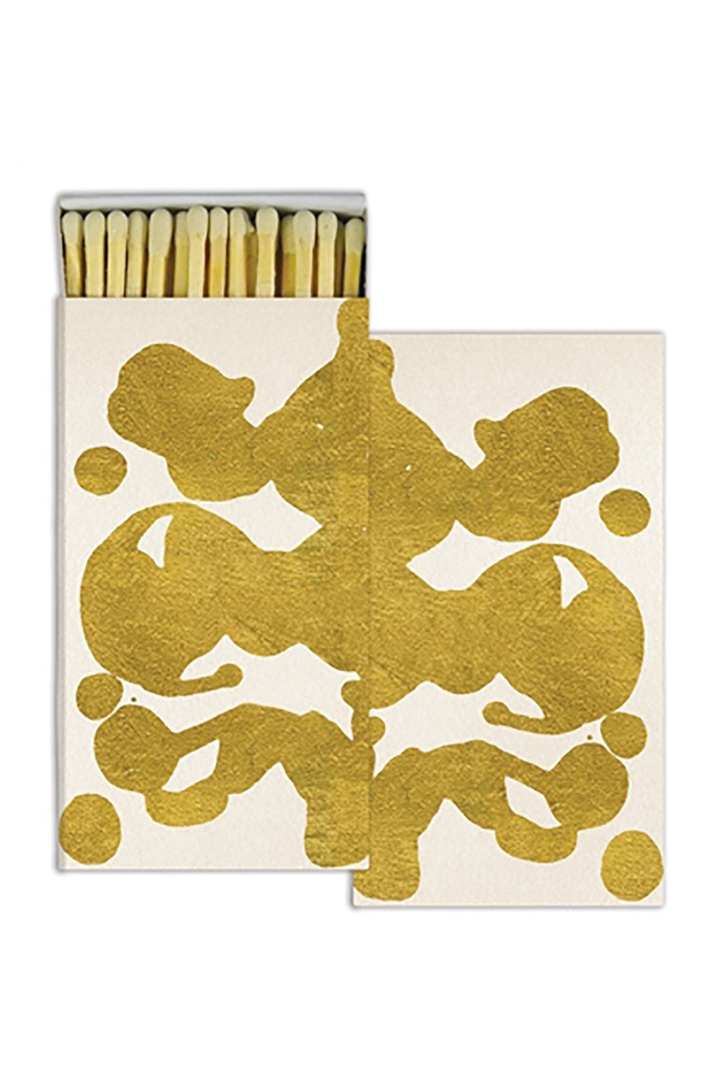 Gold Foil Rorschach Matches - Two Penny Blue
