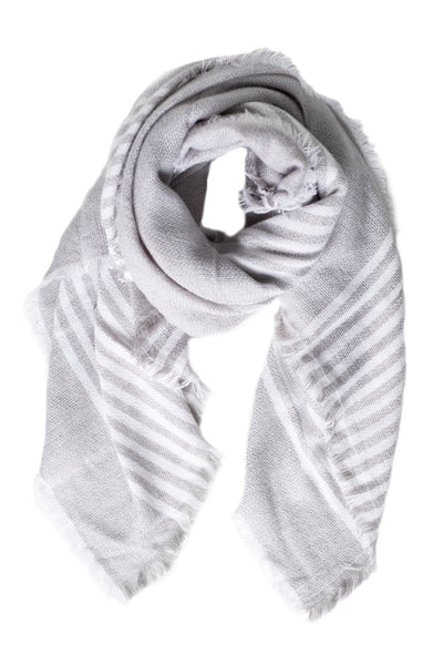 Gray Striped Ultra Cozy Scarf