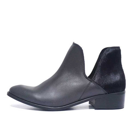 Kara Kum Bootie with Black Pony Heel