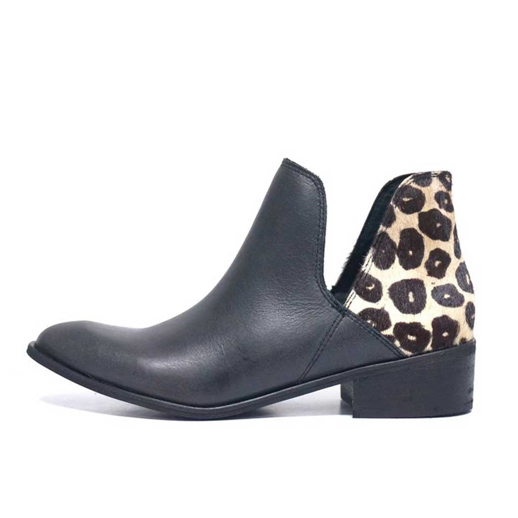 Kaanas Kara Kum Bootie with Cheetah Pony Heel