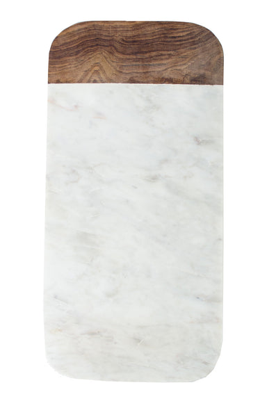 Marble Cheese Board with wood accent