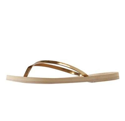 Lux Metallic Sandal in Guilded Gold - Two Penny Blue