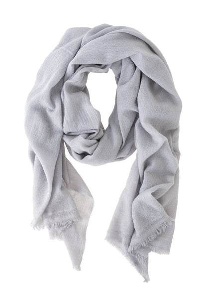 Luxe Light Gray Cashmere Scarf - Two Penny Blue