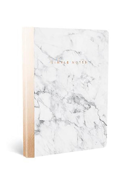 Marble Copper Soft Cover Journal - Two Penny Blue