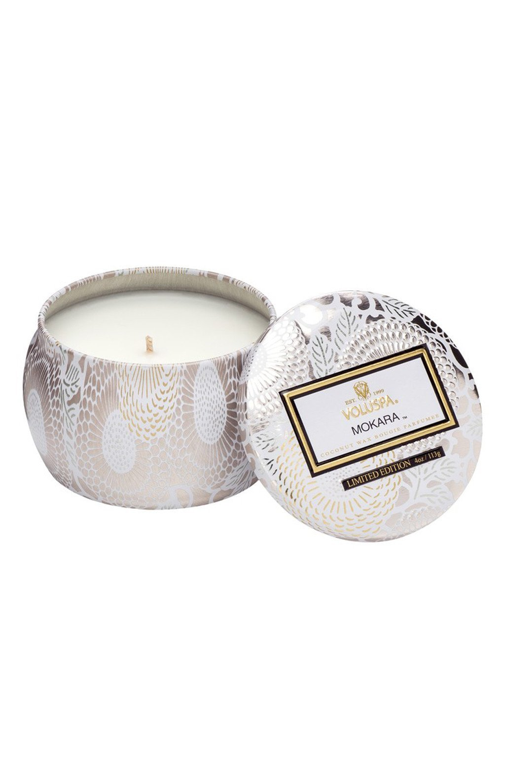 Mokara Petite Decorative Candle - Two Penny Blue