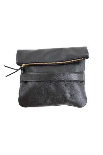 The Mary Leather Foldover Clutch