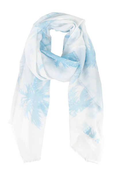 Palm Scarf - Two Penny Blue