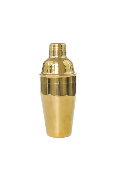 Polished Brass Cocktail Shaker - Two Penny Blue