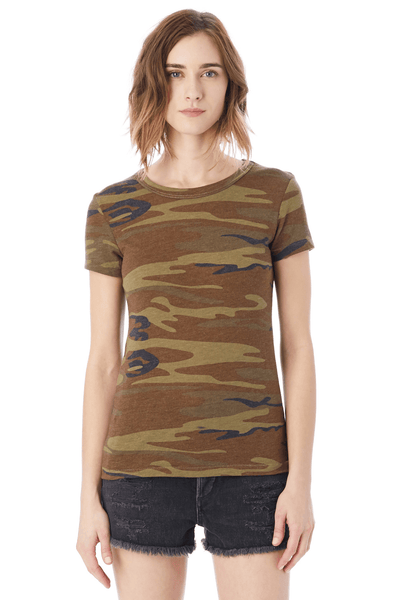 Printed Camo Ideal T-Shirt - Two Penny Blue