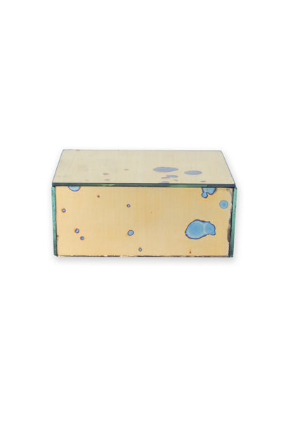 Rectangle Arte Gold Mirrored Box - Two Penny Blue