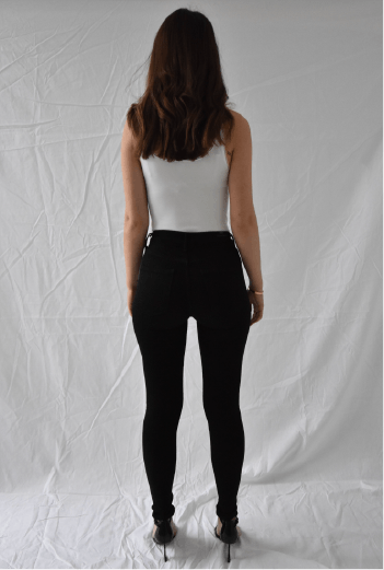 Rocket High Rise Skinny - Black - Two Penny Blue