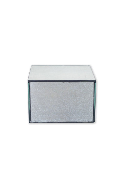 Small Rectangle Arte Gunmetal Mirrored Box - Two Penny Blue