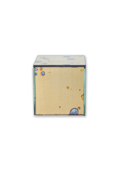 Small Square Arte Gold Mirrored Box - Two Penny Blue