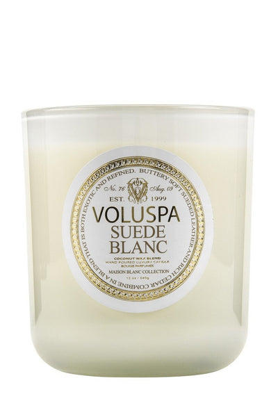 Suede Blanc Classic Maison Candle - Two Penny Blue