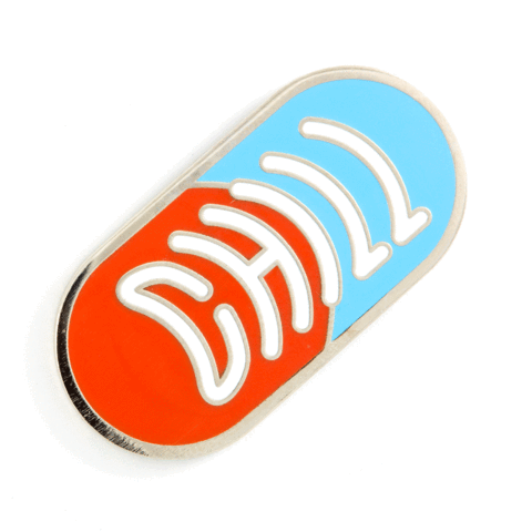 These Are Things - Chill Pill Enamel Pin - Two Penny Blue