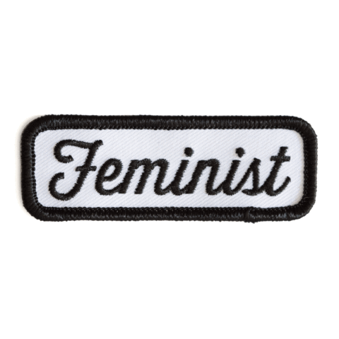 These Are Things - Feminist Black Embroidered Iron-On Patch - Two Penny Blue