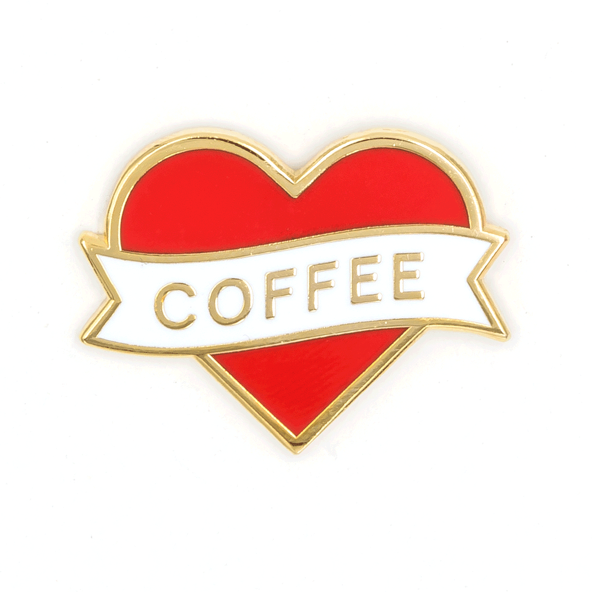These Are Things - Heart Coffee Enamel Pin - Two Penny Blue