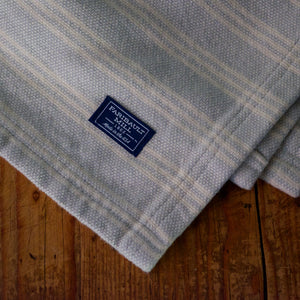 Grey Stripe Cotton Throw Blanket