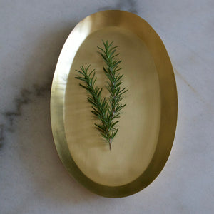 Oval Brass Serving Dish